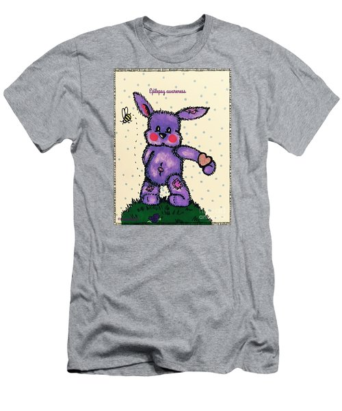 Epilepsy Awareness Bunny Men's T-Shirt (Slim Fit) by MaryLee Parker