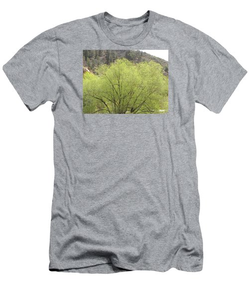Men's T-Shirt (Athletic Fit) featuring the photograph Tree Ute Pass Hwy 24 Cos Co by Margarethe Binkley