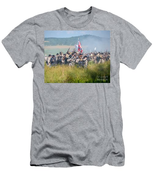 Gettysburg Confederate Infantry 9214c Men's T-Shirt (Athletic Fit)