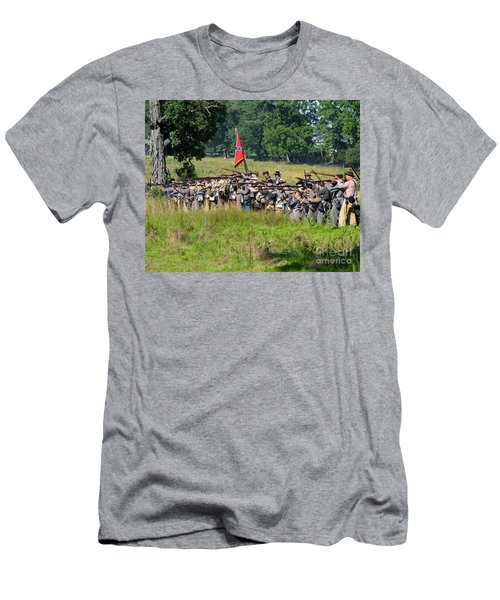 Gettysburg Confederate Infantry 9270c Men's T-Shirt (Athletic Fit)