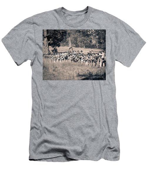 Gettysburg Confederate Infantry 9270s Men's T-Shirt (Athletic Fit)