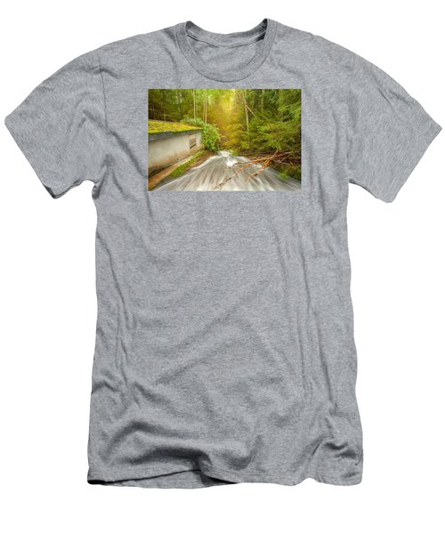 Men's T-Shirt (Slim Fit) featuring the photograph  In The Woods by Rose-Maries Pictures