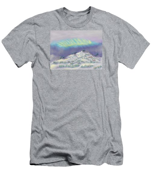 Peaceful Snowy Sunrise Men's T-Shirt (Slim Fit) by Dawn Senior-Trask