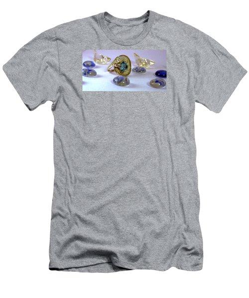 Rhapsody In Blue Men's T-Shirt (Slim Fit) by Mikhail Savchenko