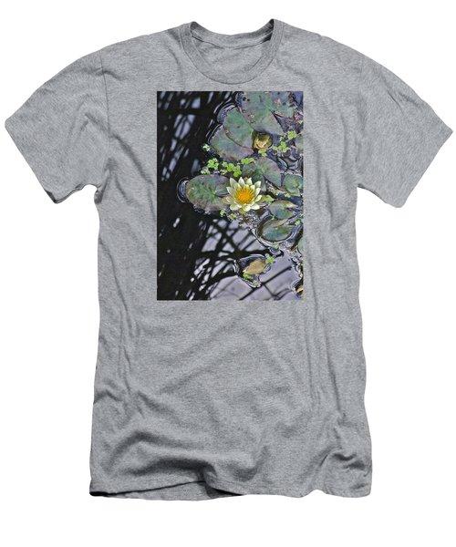 September White Water Lily Men's T-Shirt (Slim Fit) by Janis Nussbaum Senungetuk