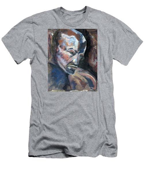 01323 Thinker Men's T-Shirt (Slim Fit) by AnneKarin Glass