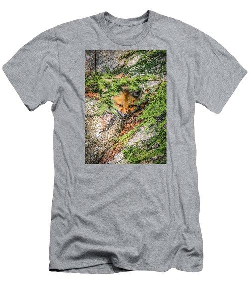 #0527 - Fox Kit Men's T-Shirt (Athletic Fit)