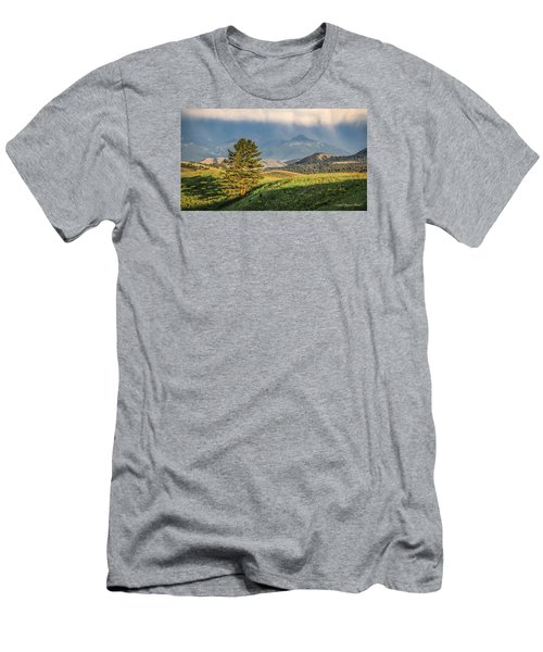#0613 - Absaroka Range, Paradise Valley, Southwest Montana Men's T-Shirt (Athletic Fit)