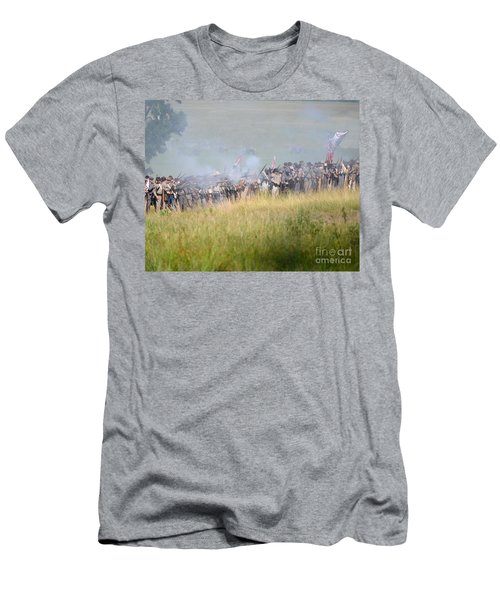 Gettysburg Confederate Infantry 7503c Men's T-Shirt (Athletic Fit)