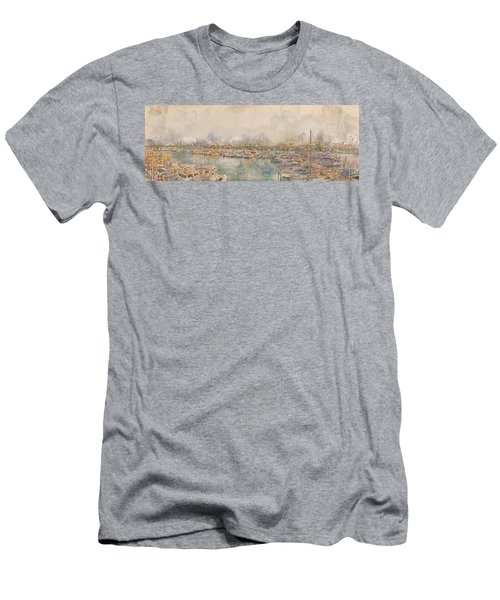 10879 Clearwater Marina Men's T-Shirt (Athletic Fit)