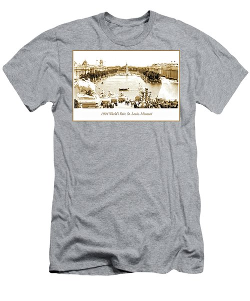 1904 World's Fair, Grand Basin View From Festival Hall Men's T-Shirt (Athletic Fit)