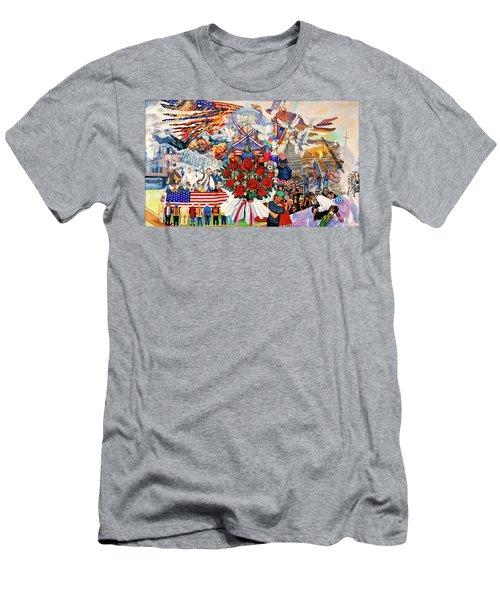 9/11 Memorial Men's T-Shirt (Slim Fit) by Bonnie Siracusa