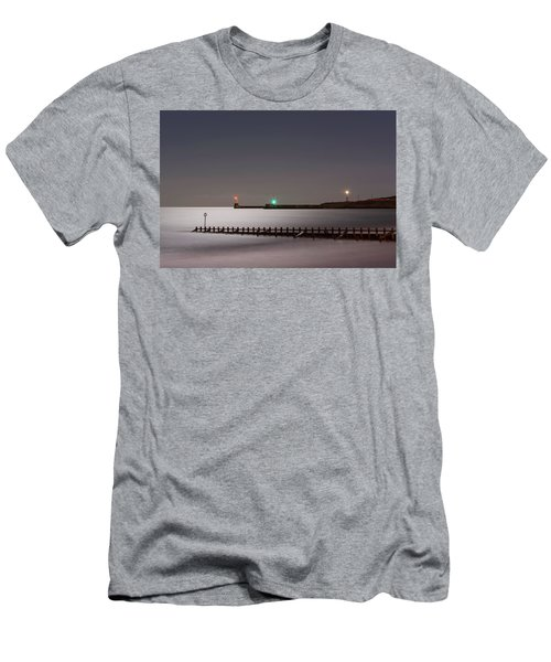 Aberdeen Beach At Night Men's T-Shirt (Athletic Fit)