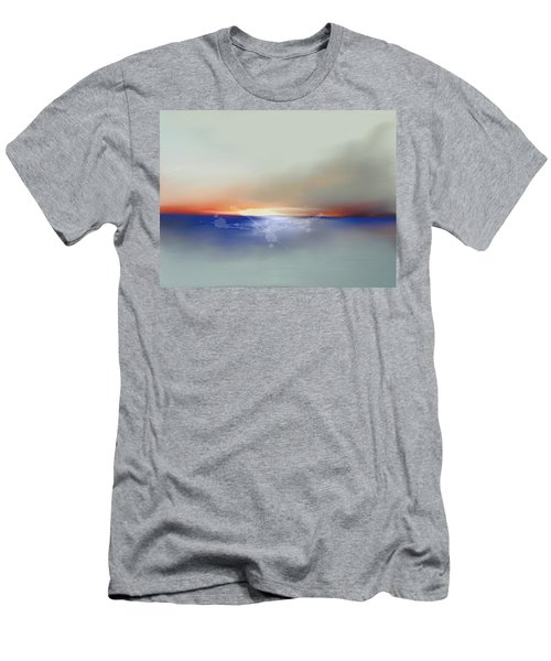 Abstract Beach Sunrise  Men's T-Shirt (Slim Fit) by Anthony Fishburne