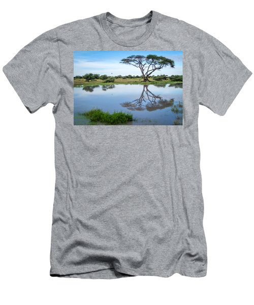 Acacia Tree Reflection Men's T-Shirt (Athletic Fit)