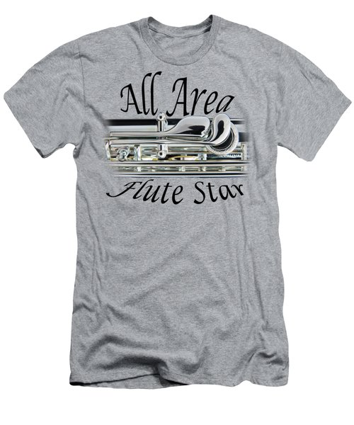 All Area Flute Star  Men's T-Shirt (Athletic Fit)