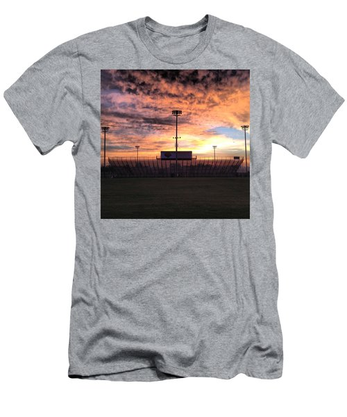 Alma High School Don Miller Field Sunrise Bleachers Men's T-Shirt (Athletic Fit)