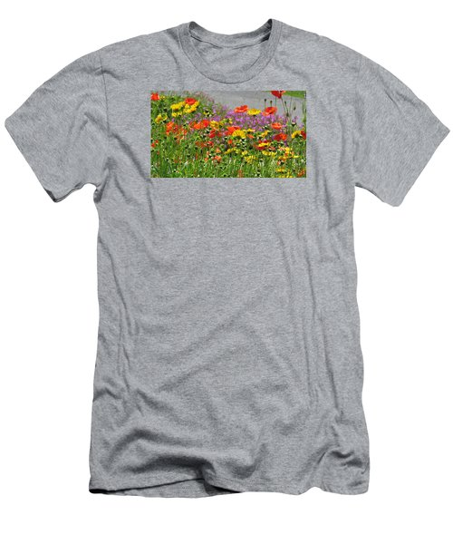 Men's T-Shirt (Slim Fit) featuring the photograph Along The Road by Jeanette Oberholtzer
