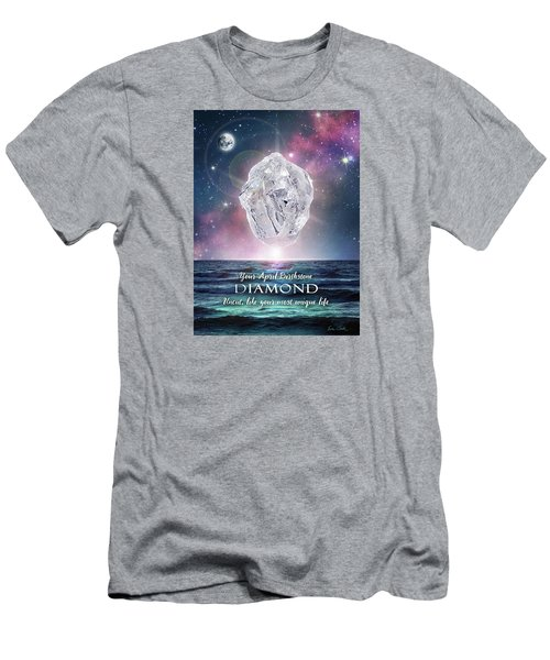 April Birthstone Diamond Men's T-Shirt (Athletic Fit)