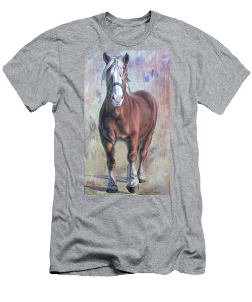 Arthur The Belgian Horse Men's T-Shirt (Athletic Fit)