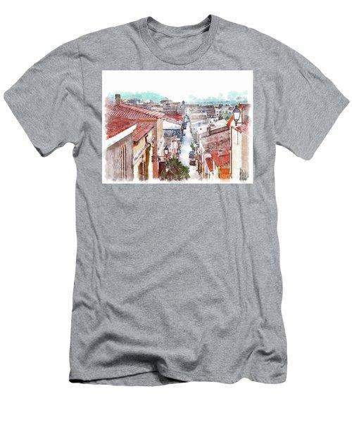 Arzachena View Of The Corso Garibaldi Men's T-Shirt (Athletic Fit)