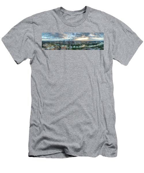 Austin Cityscape Men's T-Shirt (Slim Fit) by Andrew Nourse