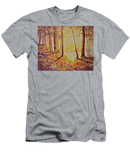 Men's T-Shirt (Slim Fit) featuring the painting Autumn Glow by Carolyn Rosenberger