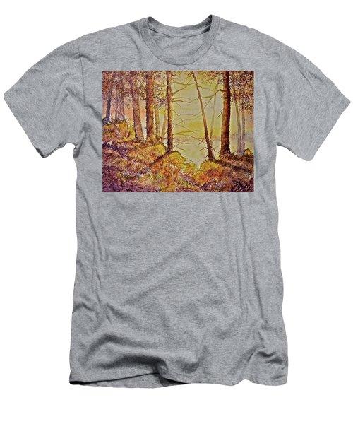 Autumn Glow Men's T-Shirt (Slim Fit) by Carolyn Rosenberger
