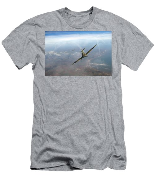 Men's T-Shirt (Slim Fit) featuring the photograph Battle Of Britain Spitfires Over Kent by Gary Eason