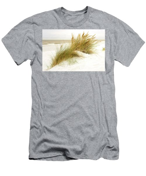 Men's T-Shirt (Slim Fit) featuring the photograph Beach Grass by Hannes Cmarits