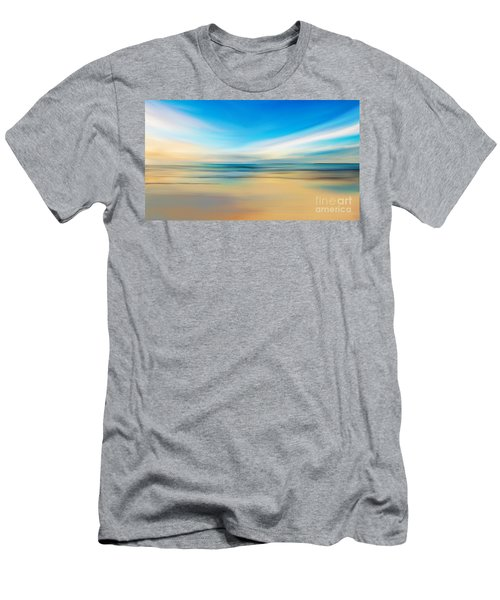 Men's T-Shirt (Slim Fit) featuring the digital art Beach Sunrise by Anthony Fishburne