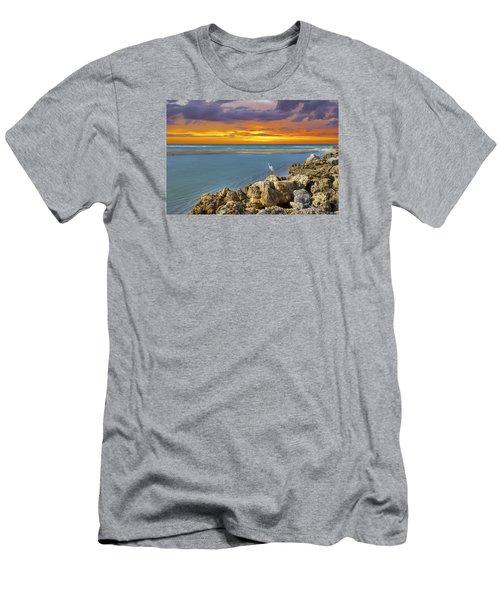 Blind Pass Sunset Men's T-Shirt (Slim Fit) by Sean Allen