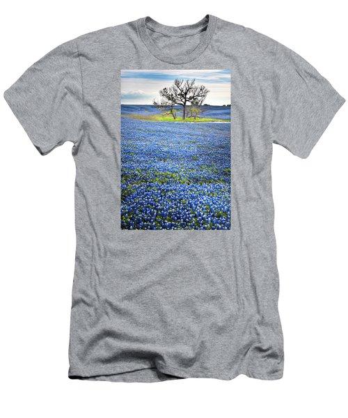 Bluebonnet Field Men's T-Shirt (Slim Fit) by David and Carol Kelly