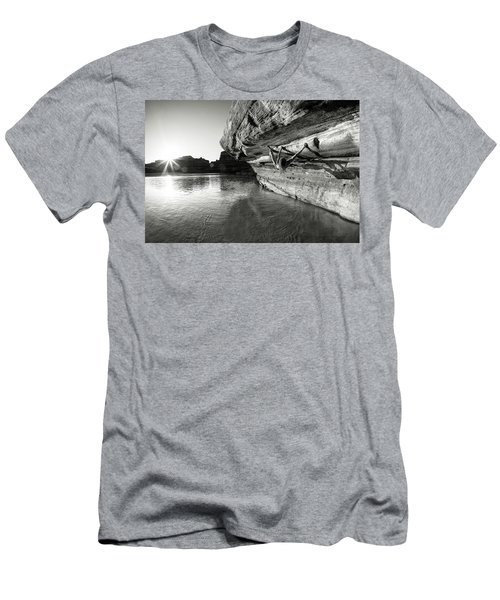 Bouldering Above River Men's T-Shirt (Athletic Fit)