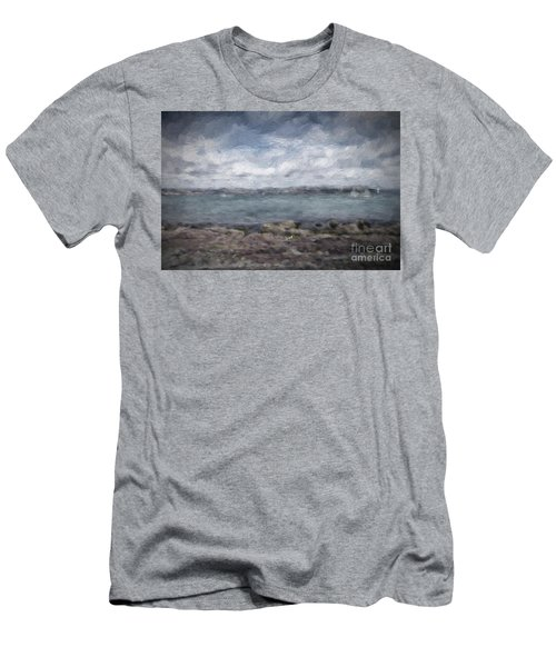 Men's T-Shirt (Slim Fit) featuring the photograph Brixham Harbour by Patricia Hofmeester