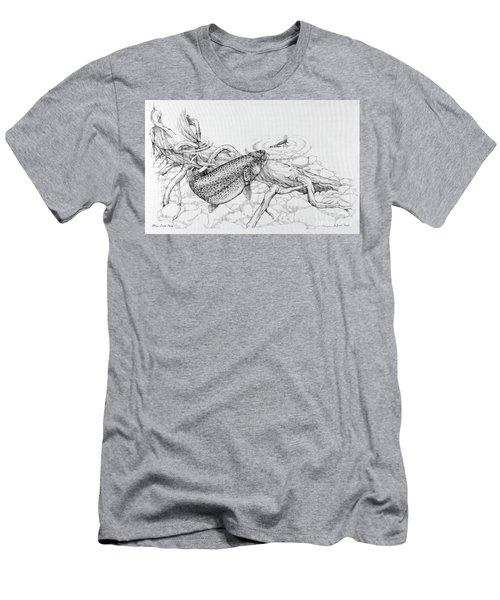 Brown Trout Pencil Study Men's T-Shirt (Athletic Fit)