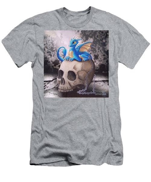 Captive Dragon On An Old Skull Men's T-Shirt (Athletic Fit)