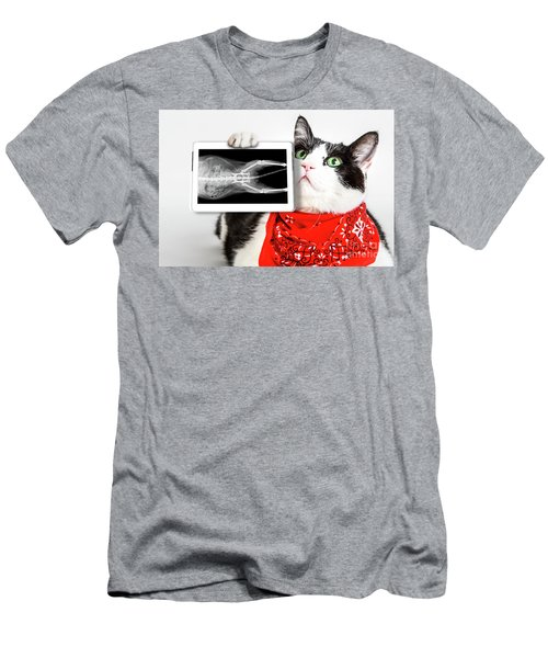 Cat With X Ray Plate Men's T-Shirt (Athletic Fit)