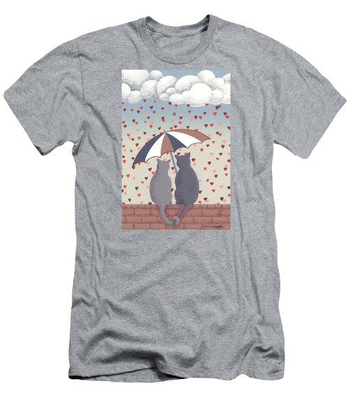 Cats In Love Men's T-Shirt (Athletic Fit)