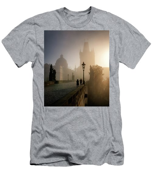 Charles Bridge, Prague, Czech Republic Men's T-Shirt (Athletic Fit)