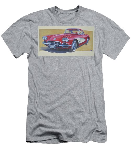 Men's T-Shirt (Slim Fit) featuring the painting Chevy. by Mike Jeffries