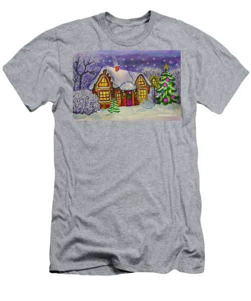 Christmas House, Painting Men's T-Shirt (Athletic Fit)