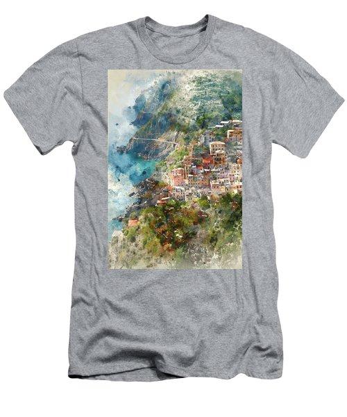 Cinque Terre In Italy Men's T-Shirt (Athletic Fit)