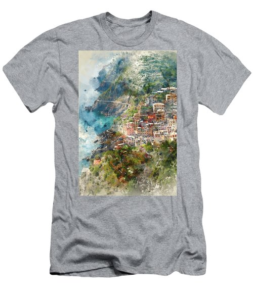 Cinque Terre In Italy Men's T-Shirt (Athletic Fit)