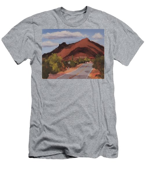 Cloud Shadows On Black Mountain Men's T-Shirt (Athletic Fit)
