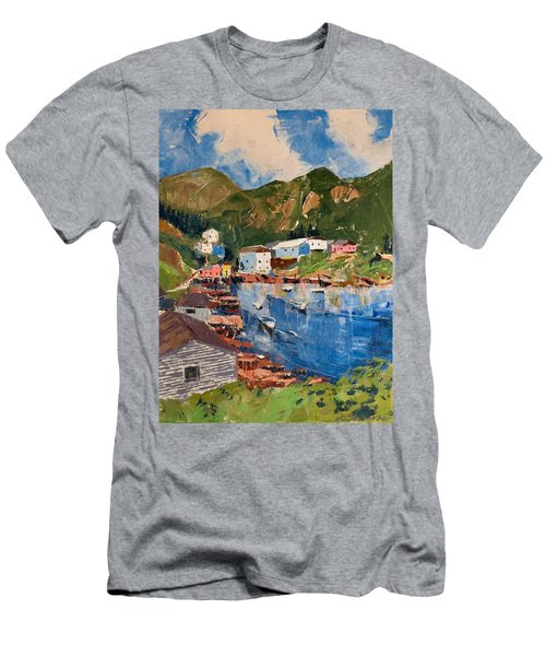 Coastal Village, Newfoundland Men's T-Shirt (Athletic Fit)