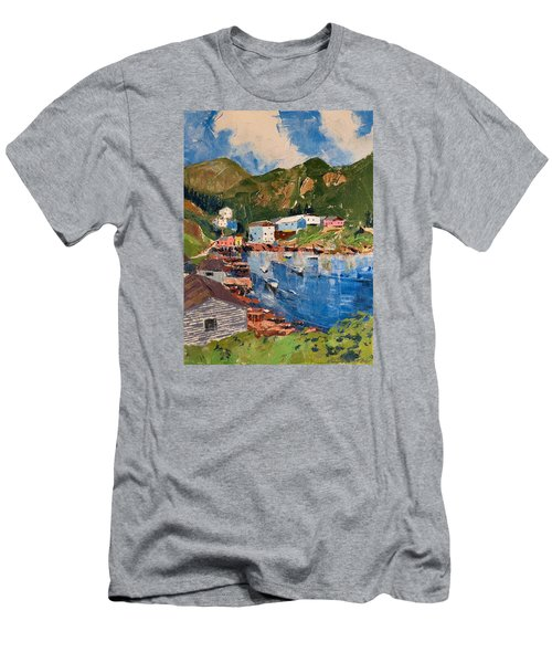 Coastal Village, Newfoundland Men's T-Shirt (Athletic Fit)