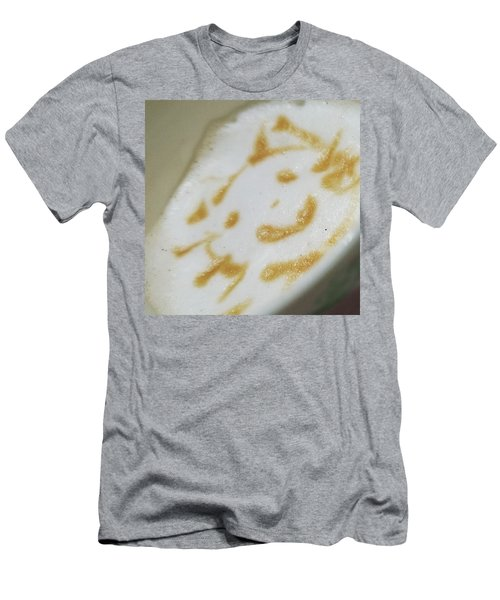 Coffeeart Kitten  Men's T-Shirt (Athletic Fit)