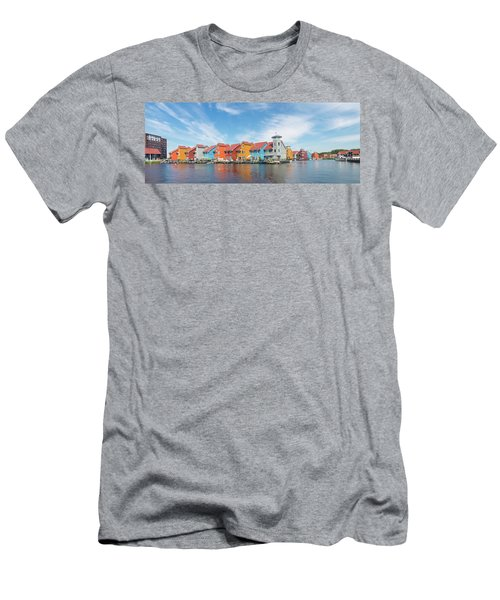 Colorful Buildings Men's T-Shirt (Athletic Fit)