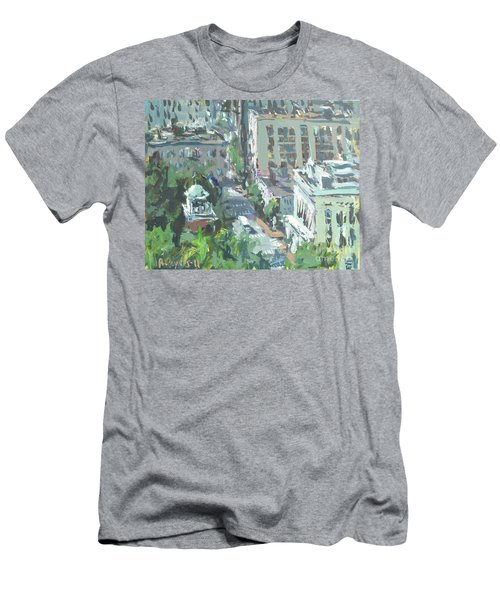 Contemporary Richmond Virginia Cityscape Painting Men's T-Shirt (Athletic Fit)